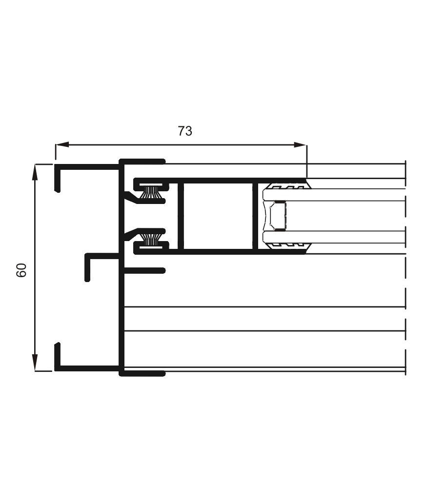 Sección del sistema 6200 Corredera